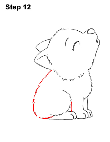 how to draw a wolf tail