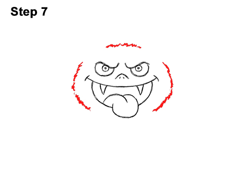 How to Draw Angry Funny Cute Halloween Cartoon Bat 7
