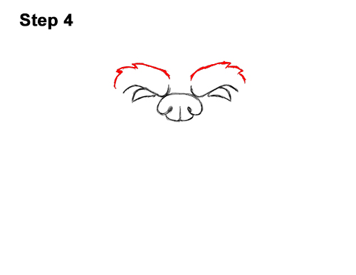 How to Draw a Cartoon Grizzly Bear Head Roaring 4