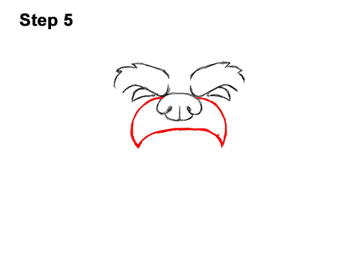 How to Draw a Cartoon Grizzly Bear Head Roaring 5
