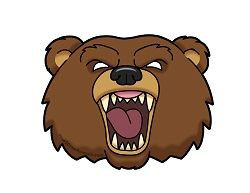 How to Draw a Cartoon Angry Grizzly Bear Head Roaring