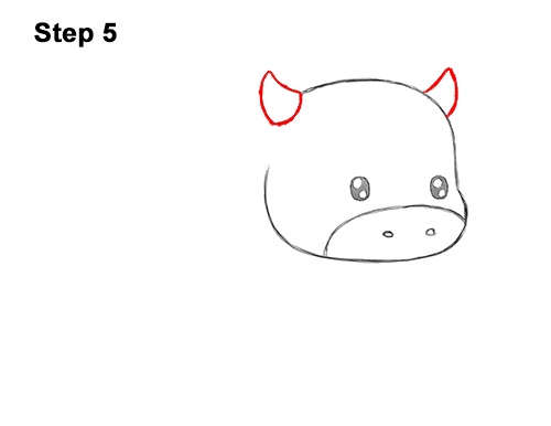 How to Draw Cute Cartoon Cow Chibi Kawaii 5