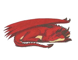How to Draw a Red Dragon Sleeping Side