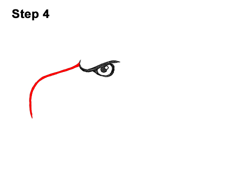 How to Draw Cool Cartoon Bald Eagle Head 4