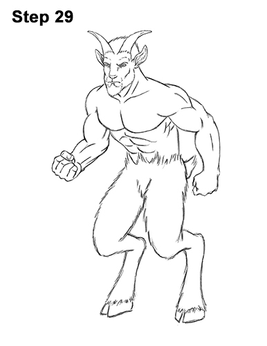 How to Draw Mythical Mythology Faun Satyr 29