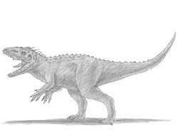 How to Draw an Indominus rex