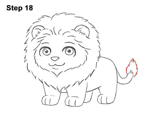 How to Draw a Lion (Cartoon)