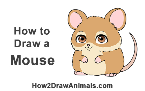 How to Draw a Cute Chibi Little Mini Cartoon Mouse