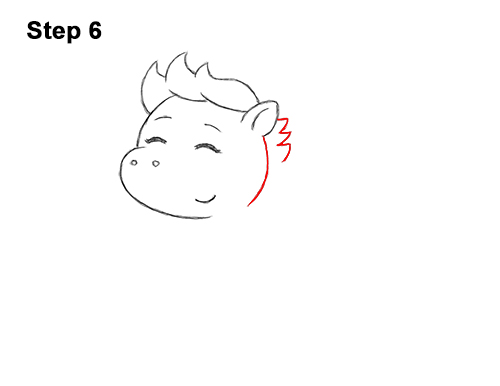 How to Draw Cute Cartoon Pegasus Wings Chibi Kawaii 6