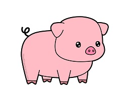 How to Draw a Cute Cartoon Pig Chibi