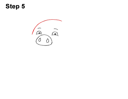 How to Draw a Cute Little Mini Funny Cartoon Pig Piglet 5