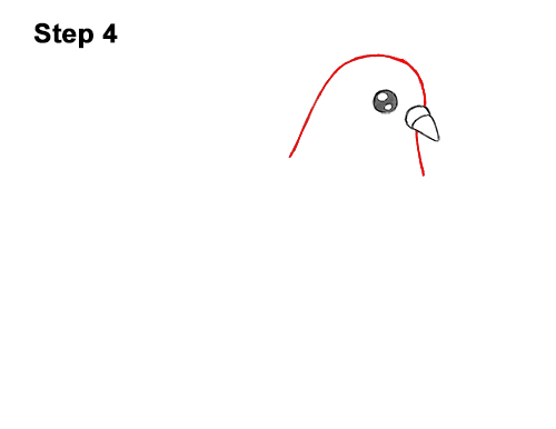 How to Draw Cute Cartoon Pigeon 4