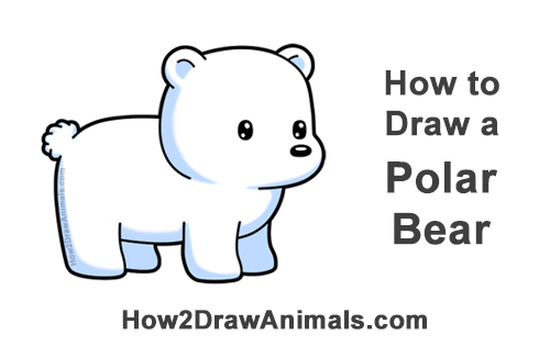 How to Draw Cute Cartoon Polar Bear