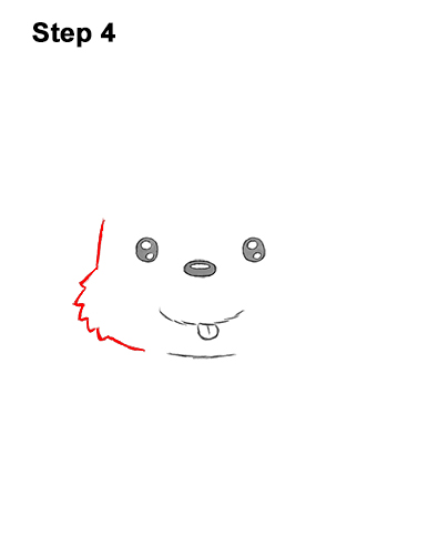 How to Draw a Cute Cartoon Harp Seal Pup Chibi Kawaii 4