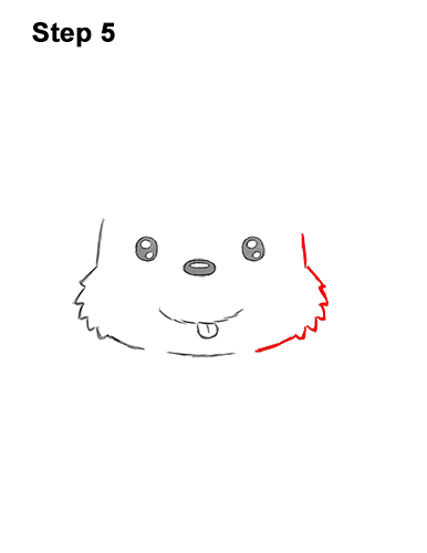 How to Draw a Cute Cartoon Harp Seal Pup Chibi Kawaii 5