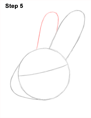 How to Draw Cute Bunny Rabbit Head Face Portrait 5