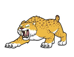 How to Draw a Smilodon sabertooth Cat cartoon