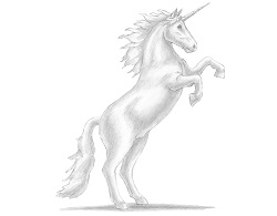 How to draw a Unicorn Rearing