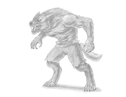 How to Draw a Scary Angry Werewolf Halloween